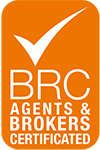 BRC Agents & Brokers Certified Logo - Mobius Logistics